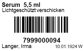 Barcode aus dem OrderEntry System